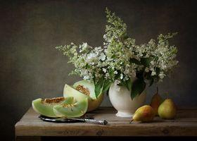 Фото бесплатно натюрморт, ваза, груша