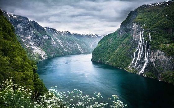 Фото бесплатно Norwegian, fjord, cruise