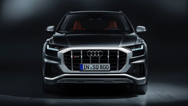 Photo free Audi sq8 sedan, view from front, luxury cars