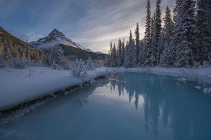 Фото бесплатно Национальный парк Банф, Канада, закат