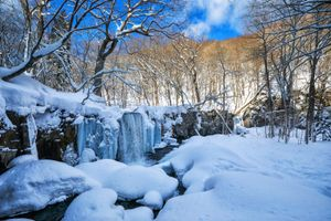 Photo free waterfall, nature, winter