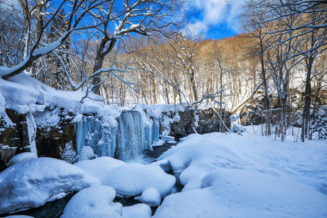 Фото бесплатно водопад, природа, зима - на рабочий стол
