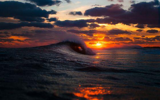 Фото бесплатно облака, капли, океан