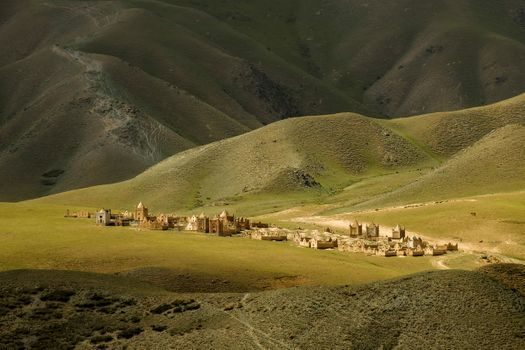 The ancient Muslim cemetery in Kyrgyzstan · free photo