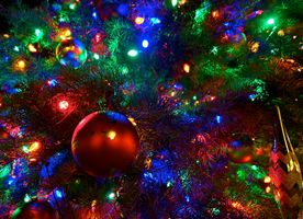 Photo free background, Christmas decorations, lights