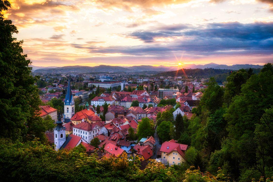 Фото бесплатно Ljubljana, Slovenia, Любляна - на рабочий стол