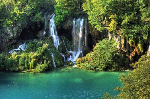 Фото бесплатно водопады, ручей, лес