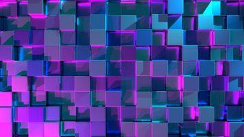 Фото бесплатно цвет, свечение, куб