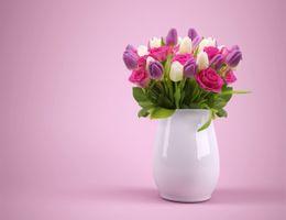 Фото бесплатно Праздничный букет, красочный, композиция из цветов