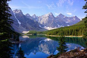 Фото бесплатно Канада, Озеро Морейн, скалы