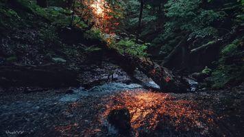 Заставки горная река, природа, воды