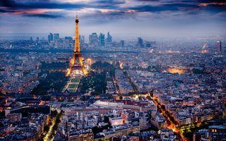 Заставки Франция, иллюминация, париж