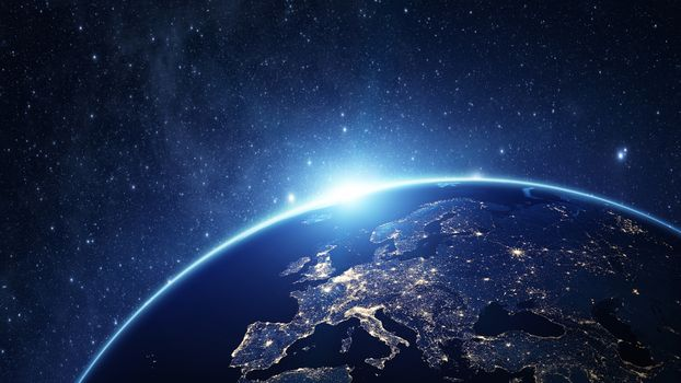 Заставки земля, звёзды, огни
