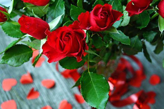 Photo free anniversary, background, bouquet