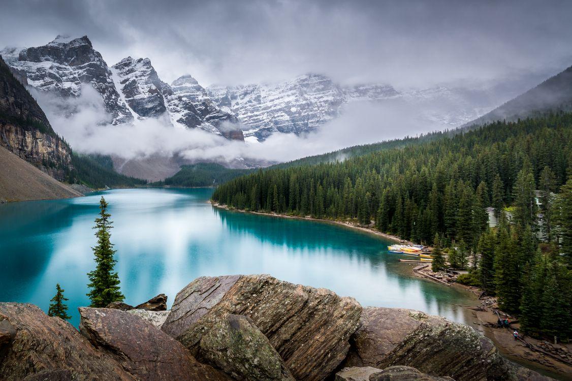 Фото бесплатно озеро, альберта, пейзаж - на рабочий стол