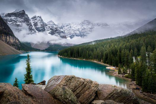 Фото бесплатно озеро, альберта, пейзаж