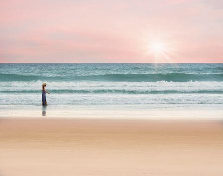 Фото бесплатно материал, океан, девушка