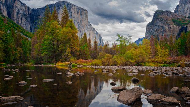 Осенний парк в Калифорнии