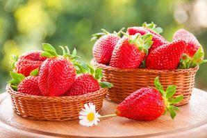 Фото бесплатно корзинки, ягоды, клубника