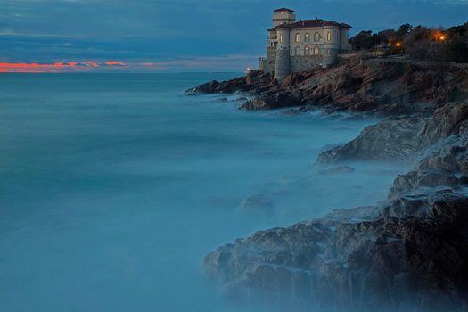 Заставки Ливорно, береговая линия, Тоскана