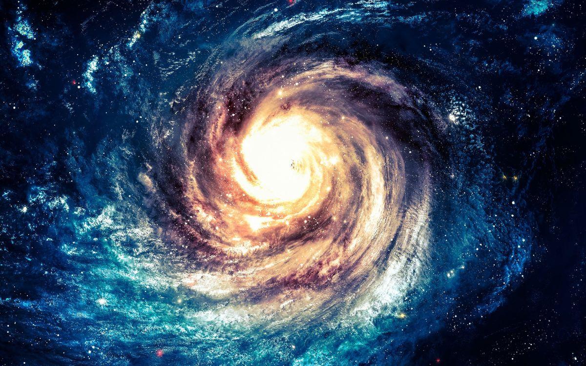 Фото бесплатно воронка, супер массивная черная дыра, центр галактики - на рабочий стол