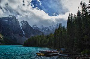 Бесплатные фото Morraine Lake,Valley,Ten Peaks,Alberta,Canada