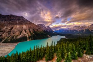 Photo free sunset, Alberta, lake