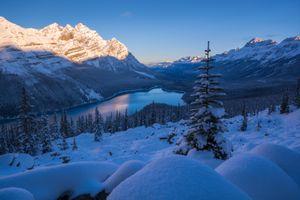 Бесплатные фото Peyto Lake,Banff National Park,Озеро Пейто,национальный парк Банф,Альберта,Канада,закат