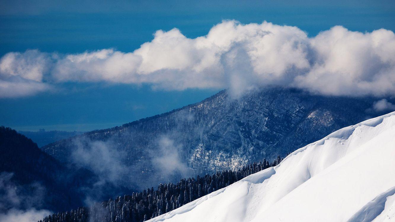 Фото Природа горы зима - бесплатные картинки на Fonwall