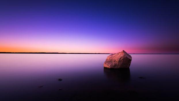Фото бесплатно скала, закат, небо