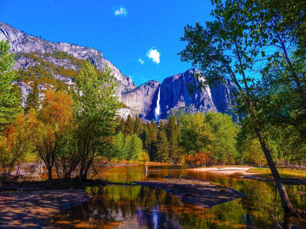 Фото бесплатно Yosemite National Park, California, Национальный парк Йосемити, Калифорния, пейзаж, пейзажи