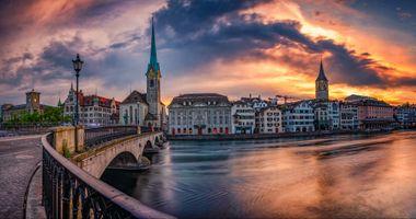 Фото бесплатно река, панорама, город