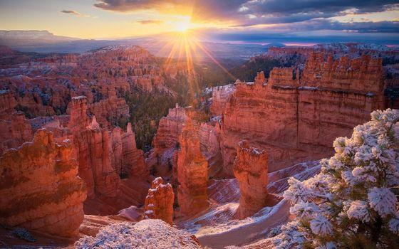 Фото бесплатно Горы, рассвет, нвнкыг