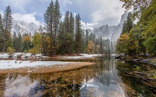 Фото бесплатно горы, лес, озеро