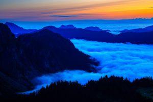 Фото бесплатно Национальный парк Маунт Рейнир, море облаков, горы