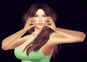 Бесплатные фото виртуальная девушка,портретное фото,art,девушка,девушки,макияж,лицо
