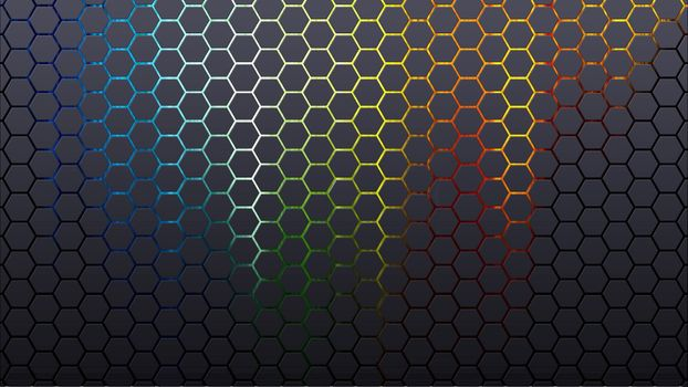 Фото бесплатно аннотация, фон, шестиугольники