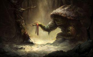 Фото бесплатно фэнтези существа, женщины, черепаха