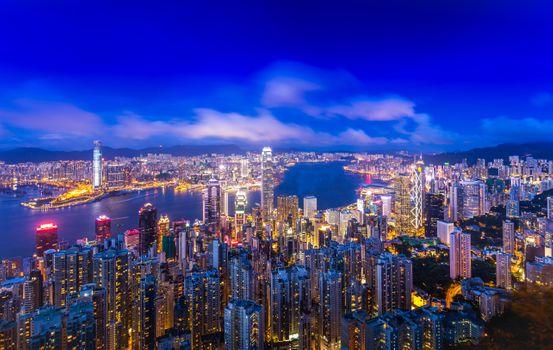 Заставки Китай, освещение, город