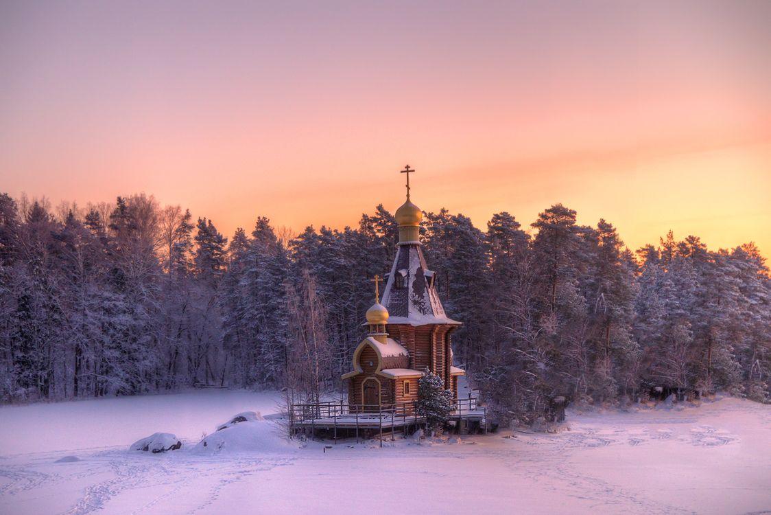 Фото бесплатно Зима, Ленинградская область, снег - на рабочий стол