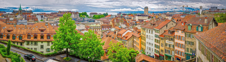 Фото бесплатно Old Town Lausanne, Switzerland, Старый город Лозанна - на рабочий стол