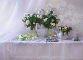 Photo free flowers, tea, cup