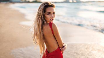 Бесплатные фото женщины,блондинка,лицо,женщины на открытом воздухе,пляж,море,портрет