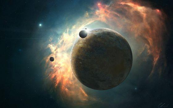 Фото бесплатно планеты, газ, туманность