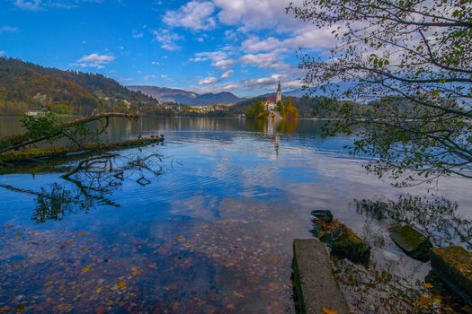 Photo free Slovenia, Lake bled with the Pilgrimage Church of the assumption of the blessed virgin Mary
