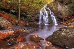 Заставки Great Smoky Mountains National Park, природа, водопад