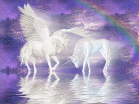 Фото бесплатно конь, волшебный, единорог