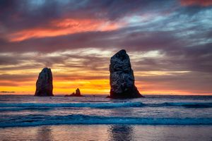 Cannon Beach - the sea · free photo