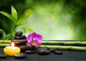Бесплатные фото массаж,романтик,свеча,камни,бамбук,огонь,пламя