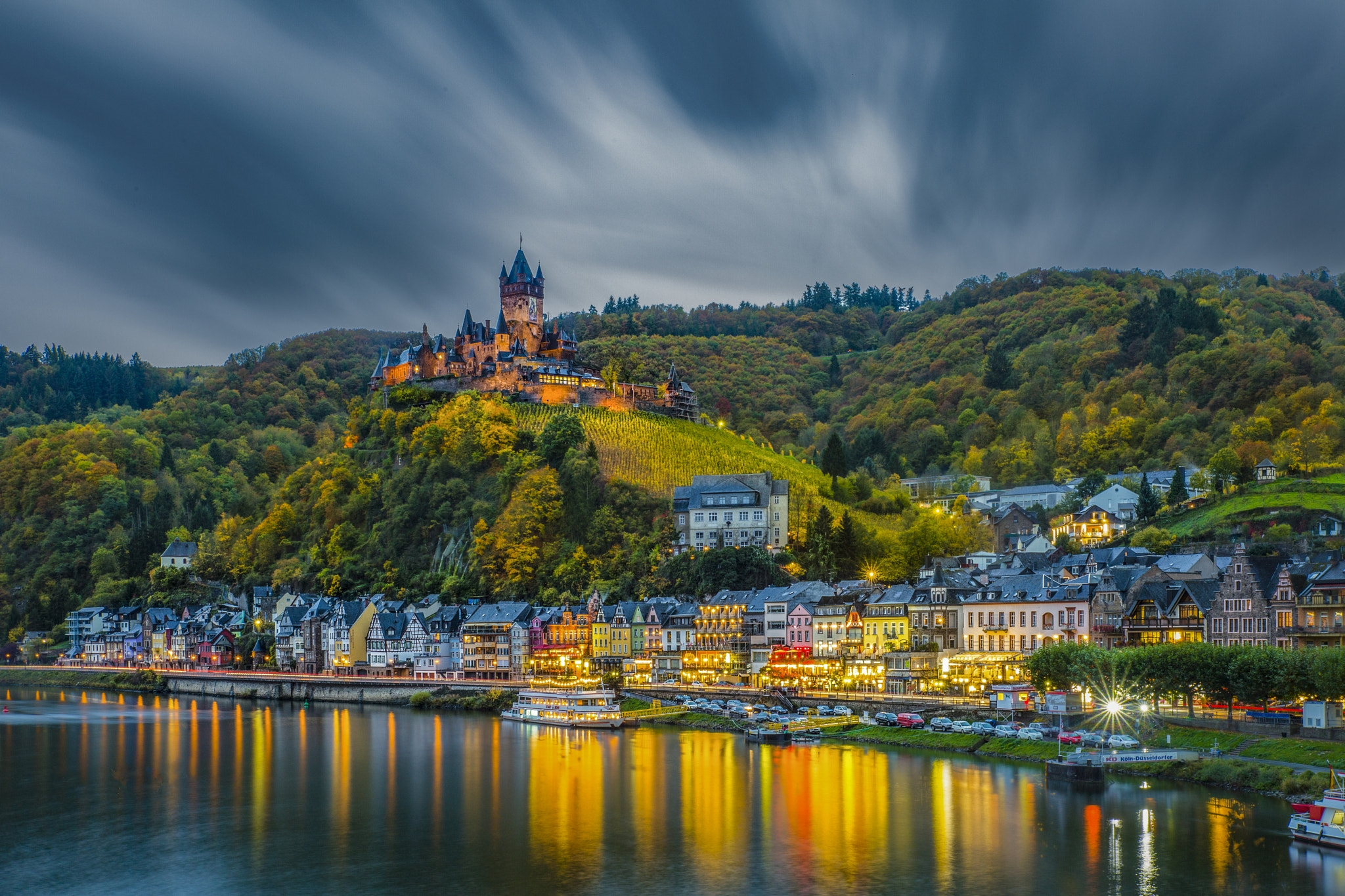 Photo Cochem Germany in early autumn - free pictures on Fonwall